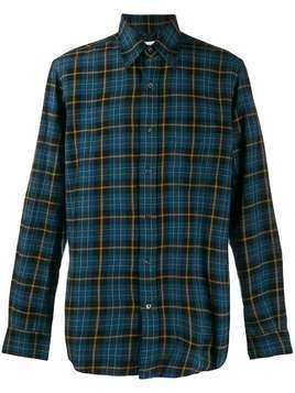 Aspesi Madras checked relaxed-fit shirt - Blue