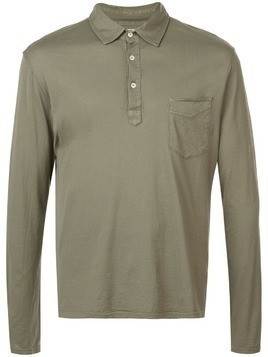 Officine Generale plain polo shirt - Green