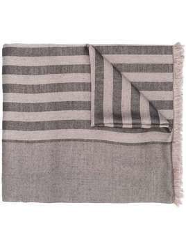 Haider Ackermann striped silk scarf - NEUTRALS