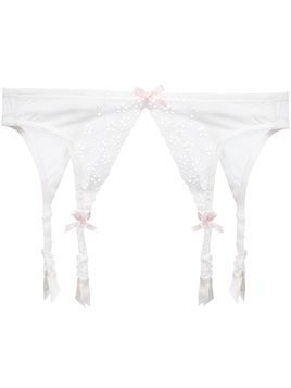 Folies By Renaud Antoinette suspender belt - White