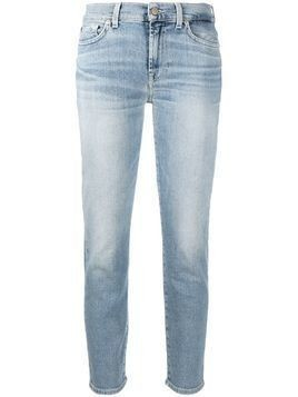 7 For All Mankind cropped skinny-fit jeans - Blue