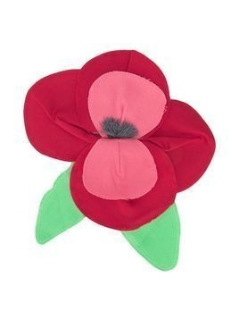 Piccola Ludo poppy appliqué brooch - Red