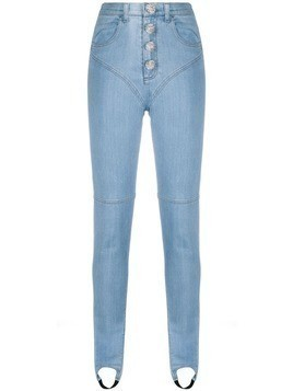 Alessandra Rich Fab high-rise jeans - Blue