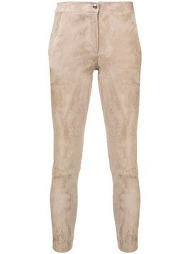 Arma slim-fit cropped trousers - Neutrals