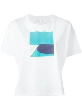 Marni colour block print T-shirt - White