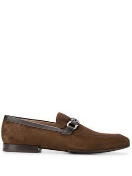 Salvatore Ferragamo suede horse-bit detailed loafers - Brown