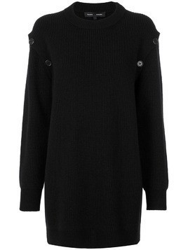 Proenza Schouler Tunic Sweater with Button Details - Black