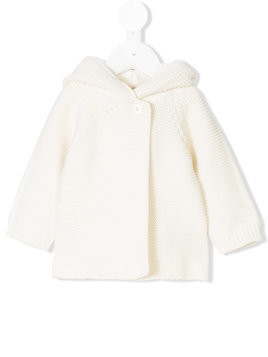 Stella Mccartney Kids hooded bear jacket - White