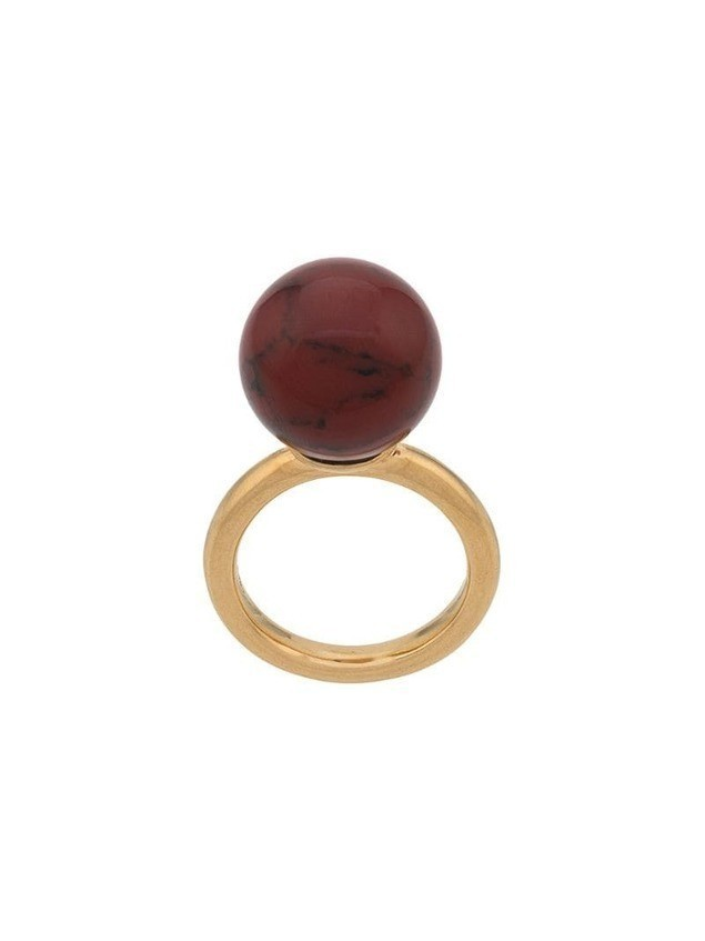 Mulberry Grace Coloured Ring - Gold