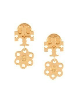 Tory Burch logo charm earrings - Gold
