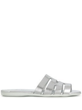 Hogan flat metallic sandals - Silver