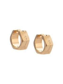 Off-White Hexnut bolt earrings - GOLD