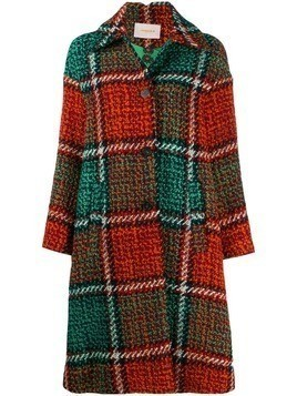 La Doublej checked coat - Green
