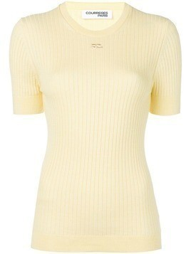 Courrèges knitted top - Yellow