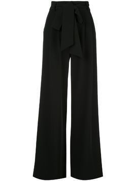 Milly tie waist flared trousers - Black