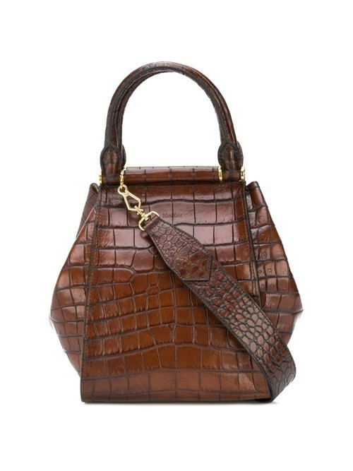 Max Mara Small Mock tote bag - Brown
