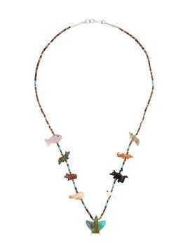 Jessie Western multi-stone eagle necklace - Brown