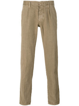 Incotex - plain chinos - Herren - Linen/Flax/Cotton - 33 - Nude & Neutrals