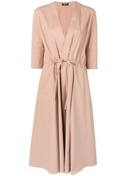 Jil Sander Navy tie waist dress - Brown