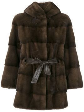 Cara Mila Zofia Mink Coat - Starlight - Brown