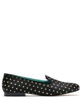Blue Bird Shoes Noite polka dots loafers - Black