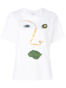 Ps By Paul Smith face print T-shirt - White