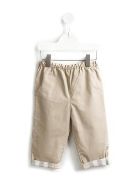 Burberry Kids check detail trousers - Nude & Neutrals