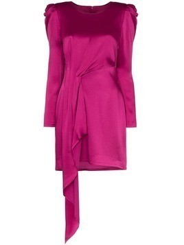 Haney satin draped mini dress - PINK