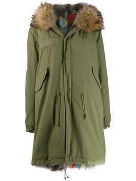 Mr & Mrs Italy multicoloured fox fur hooded parka - Green
