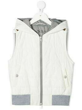 Brunello Cucinelli Kids zipped-up padded gilet - White