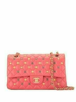 Chanel Pre-Owned quilted Double Flap CC turn-lock shoulder bag - PINK