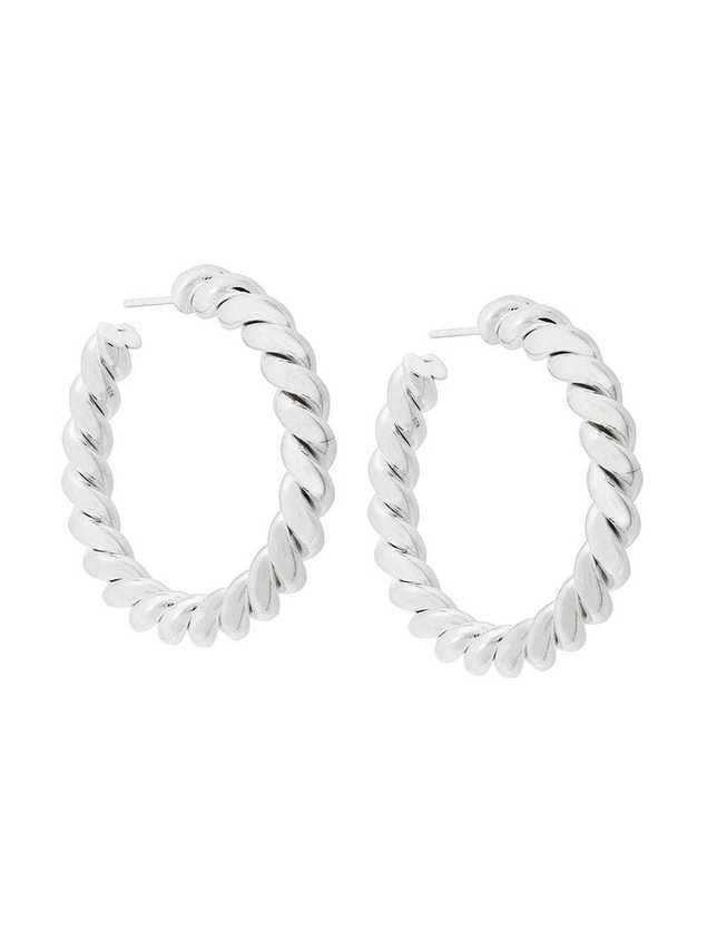 Isabel Lennse twisted loop earrings - SILVER