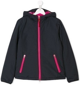 Freedomday Junior TEEN contrast trim hooded jacket - Blue