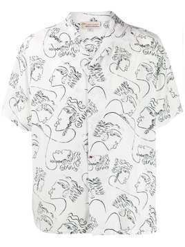 Esteban Cortazar printed short sleeved shirt - White