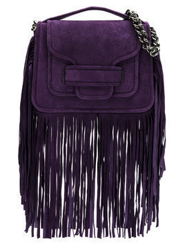 Andrea Bogosian leather fringe bag - Pink & Purple