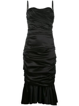 Dolce & Gabbana ruched bustier dress - Black