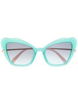 Emilio Pucci butterfly frame sunglasses - Green