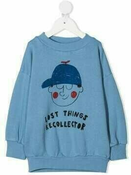 Bobo Choses slogan print sweatshirt - Blue