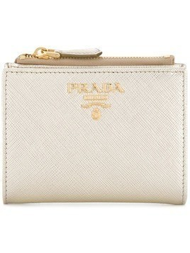 Prada small Saffiano wallet - Metallic
