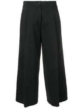 Kiltie cropped loose trousers - Black