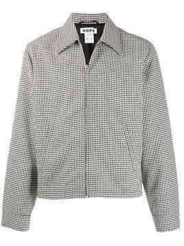 Hope zip-up houndstooth shirt jacket - Black