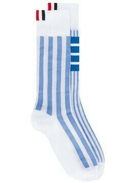 Thom Browne 4-Bar stripe socks - Blue
