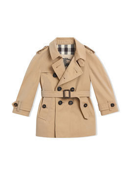 Burberry Kids - The Wiltshire Trench Coat - Kinder - Cotton/Viscose - 6 mth - Nude & Neutrals