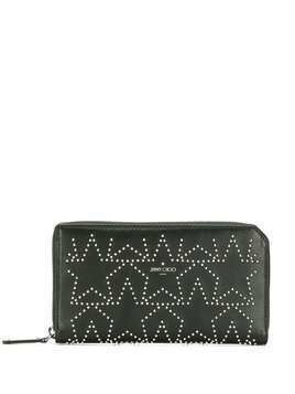 Jimmy Choo Carnaby zip-around star wallet - Black