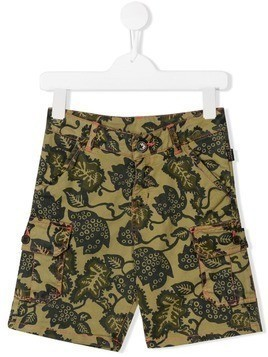 Little Marc Jacobs leaf print shorts - Green