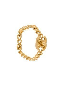 Chanel Vintage turnlock chain bracelet - Metallic