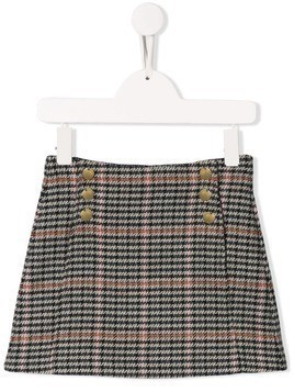 Chloé Kids checked skirt - Black