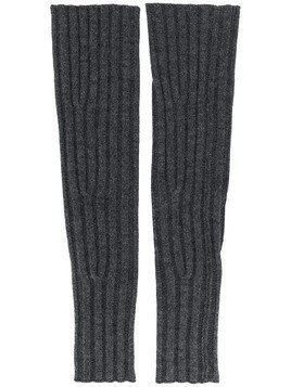 Cashmere In Love ribbed fingerless Aspen gloves - Grey