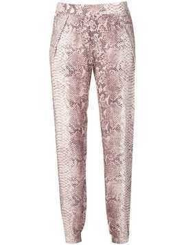 Gold Hawk snake print trousers - Pink