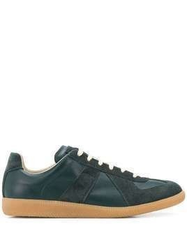 Maison Margiela suede low-top sneakers - Green